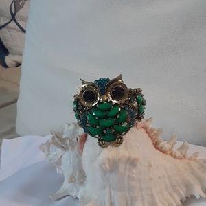 Vintage look owl cuff bracelet